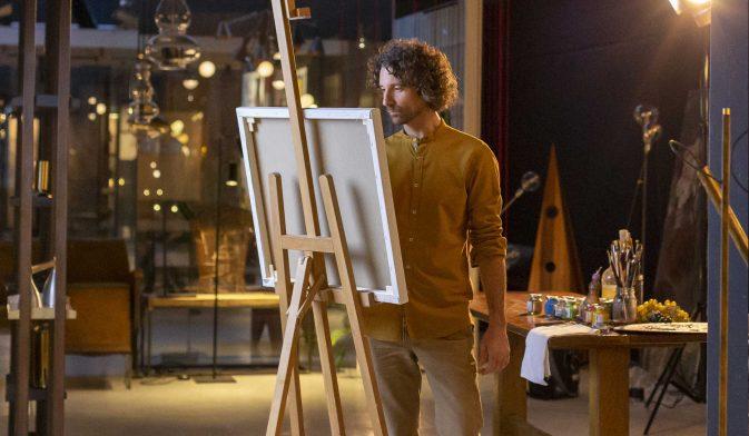 Andrea Esposito pittore spot TV