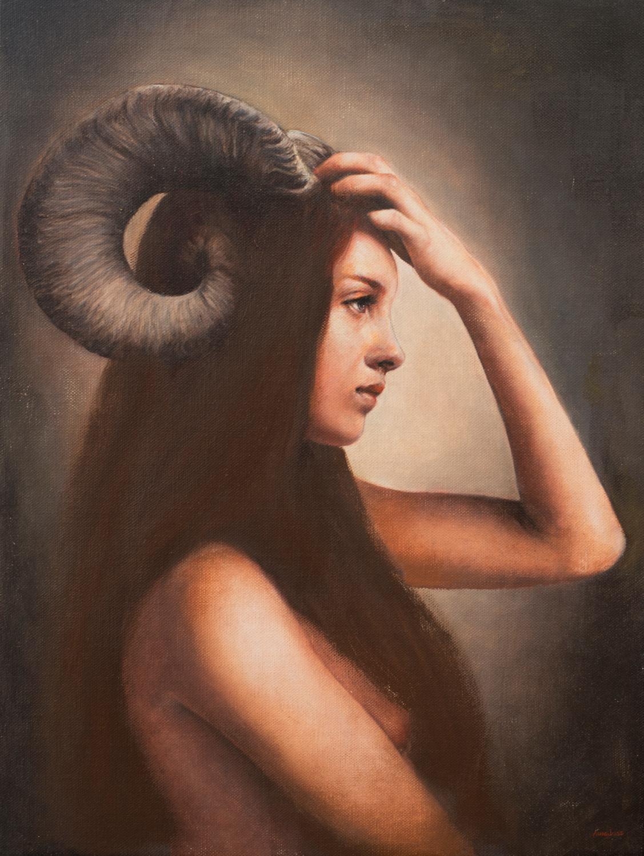 """""""Ariete"""", olio su tela, 40x30cm, 2016"""