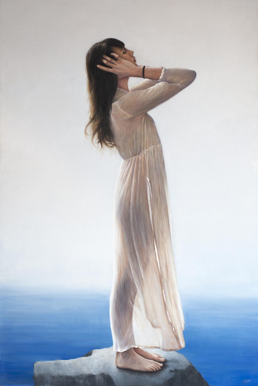 """""""Il dolce caldo vento del mare"""", olio su tela, 150x100cm, 2016"""