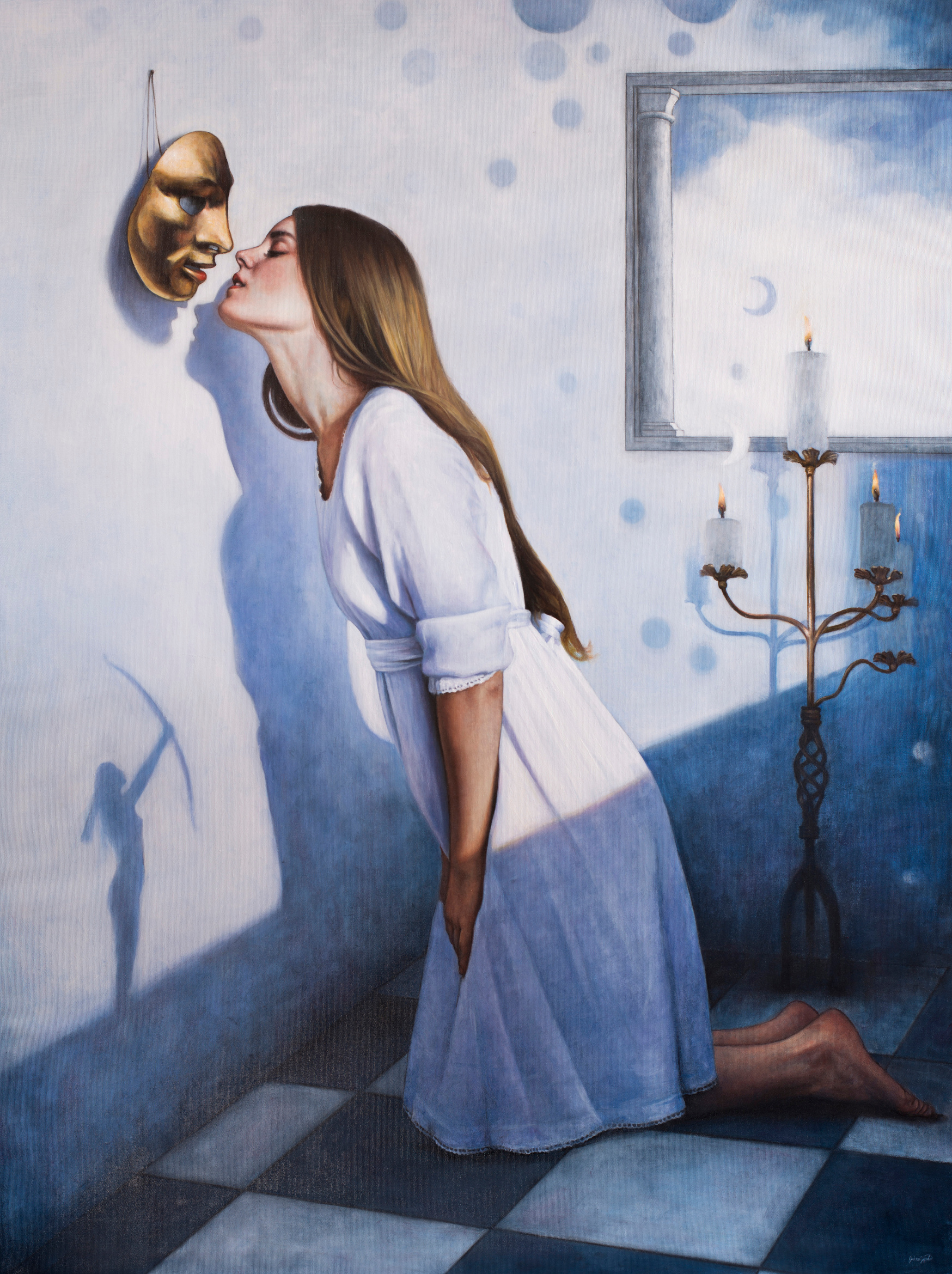 """""""Il sogno di Maya"""", olio su tela, 120x90cm, 2017"""