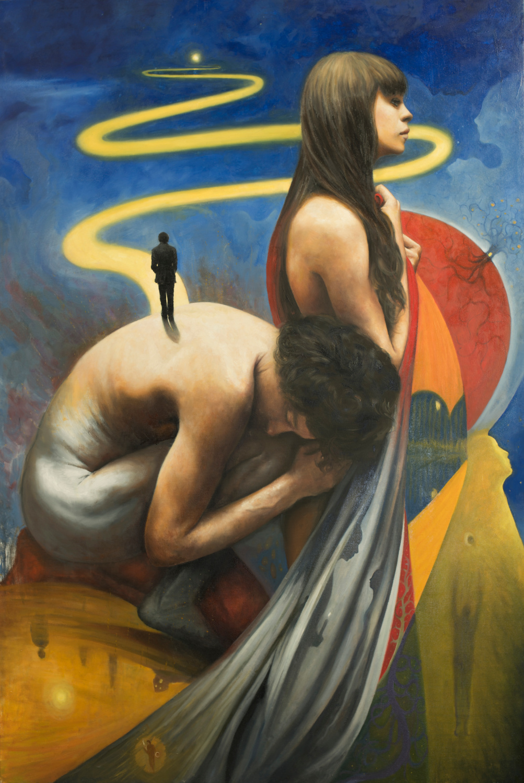 """La strada, olio su tela"", 150x100cm, 2018"