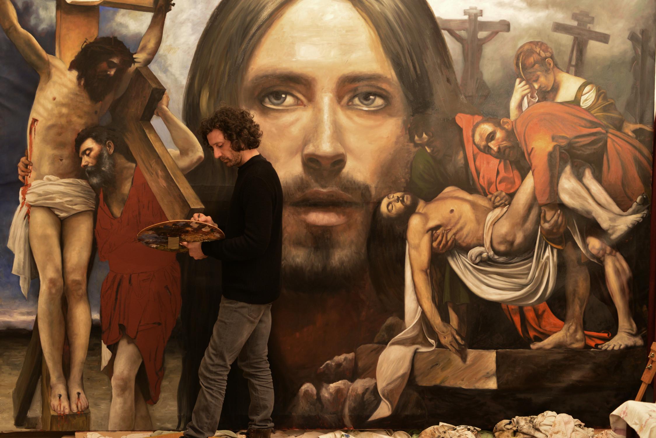 Sacred Commission, olio su tela, 250x350cm, 2018 work in progress