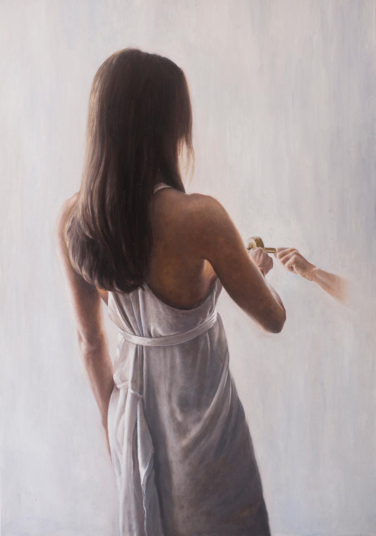 """""""Specchio magico"""", olio su tela, 100x70cm, 2020"""