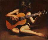 """""""Concertino"""", olio su tela, 50x55cm, 2010"""