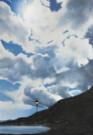 """""""La via delle nuvole bianche"""", olio su tela, 100x70cm, 2016"""