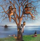 """""""L'albero della riflessione"""", olio su tela, 100x100cm, 2014"""