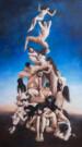"""""""Risveglio"""", olio su tela, 300x170cm, 2019"""