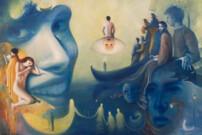 """""""Il mare dei silenzi"""", olio su tela, 100x150cm, 2021"""